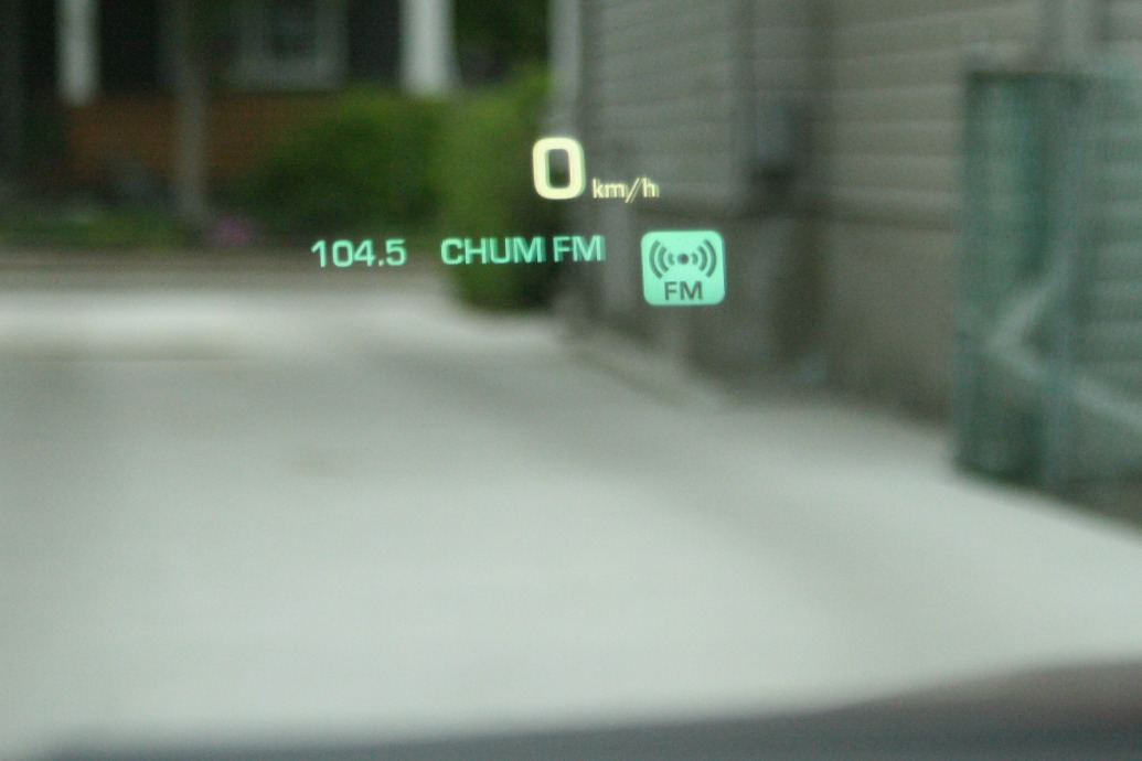 Cadallica CTS Test Drive heads up display