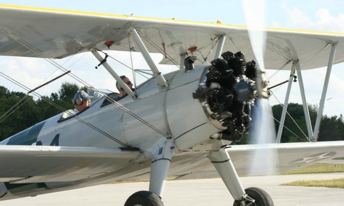 Waldo Wright's Flying Service Stearman flight