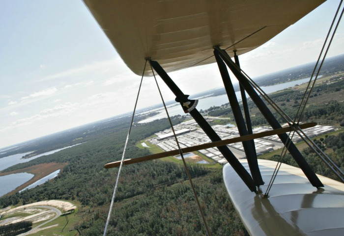 Waldo Wright's Flying Service biplane view