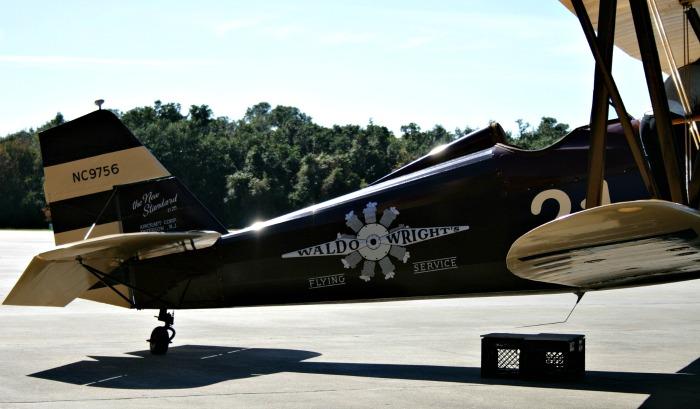 Waldo Wright's Flying Service biplane