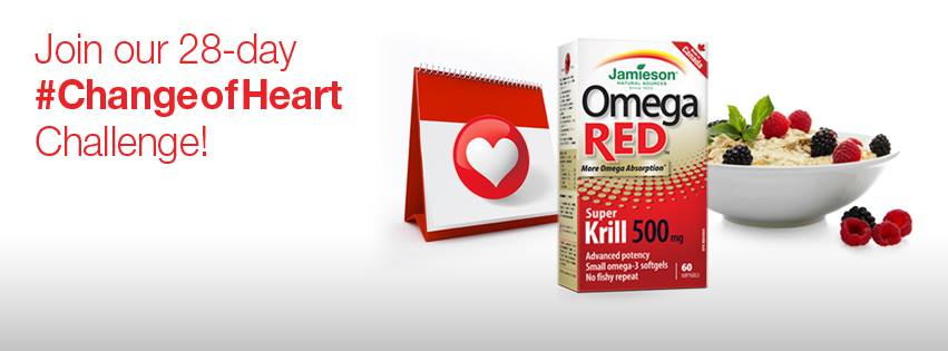 Taking the Jamieson Vitamins Change of Heart Challenge
