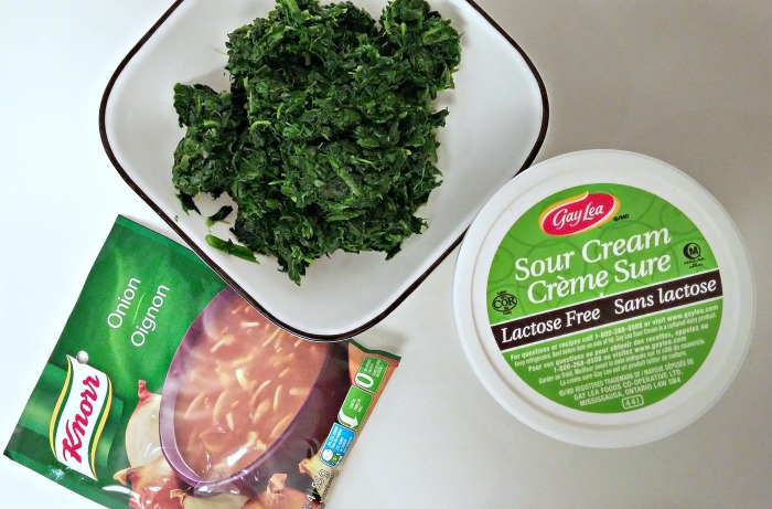 Easy Spinach Dip Ingredients // Elaine Loves