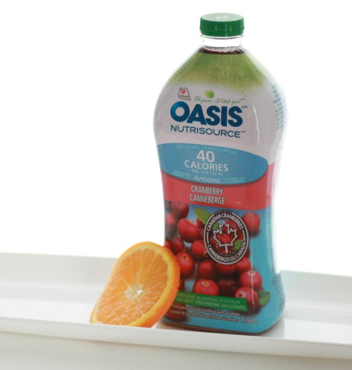 Oasis Nutrisouce Cranberry Drink Recipe // Elaine Loves