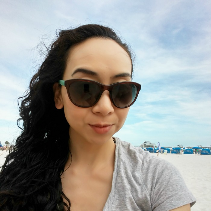 beach, elaine atkins, selfie, sunglasses