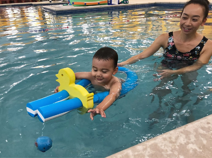 Aqua-Tots for Swimming Lessons | Elaine Loves